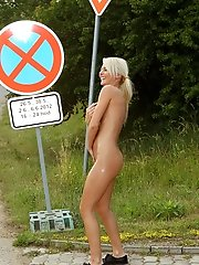 Pinky June Hitchhikes Completely Naked - 10/12/2012